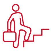 Climbing the career ladder icon