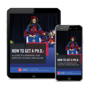 Ph.D. Guide Cover viewed on an iPad and iPhone.